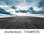 empty asphalt road and sea on a ... | Shutterstock . vector #776689276