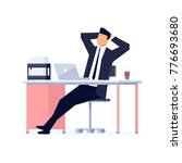 businessman in a flat style... | Shutterstock .eps vector #776693680