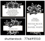 invitation with floral... | Shutterstock .eps vector #776695510