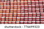 rolls of new ceramic cups for... | Shutterstock . vector #776699323