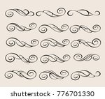 design elements.decorative... | Shutterstock .eps vector #776701330