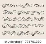 design elements.decorative... | Shutterstock .eps vector #776701330