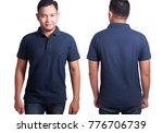 blank polo shirt mock up  front ...   Shutterstock . vector #776706739