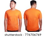 blank tshirt mock up  front and ...   Shutterstock . vector #776706769