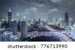 aerial view of buildings and... | Shutterstock . vector #776713990