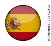 spain flag in glossy round... | Shutterstock .eps vector #776717503