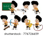 set of kid activity  kid... | Shutterstock .eps vector #776726659