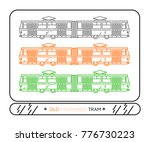 linear tram on white background ... | Shutterstock .eps vector #776730223