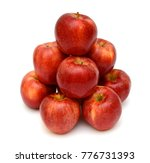 ripe red apple fruit isolated... | Shutterstock . vector #776731393