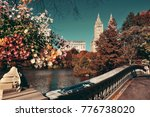central park autumn and... | Shutterstock . vector #776738020