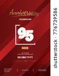 95 years anniversary logotype... | Shutterstock .eps vector #776739586