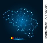 abstract map of belgium with... | Shutterstock .eps vector #776739904