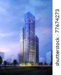 3d business building | Shutterstock . vector #77674273