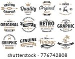 vintage retro vector labels for ... | Shutterstock .eps vector #776742808