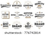 vintage retro vector labels for ... | Shutterstock .eps vector #776742814