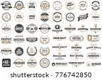 vintage retro vector labels for ... | Shutterstock .eps vector #776742850