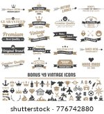 vintage retro vector labels for ... | Shutterstock .eps vector #776742880
