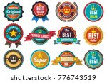 vintage retro vector labels for ... | Shutterstock .eps vector #776743519