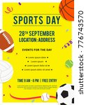 sports day poster invitation... | Shutterstock .eps vector #776743570