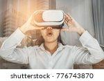 double exposure   asia woman... | Shutterstock . vector #776743870