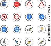line vector icon set   road... | Shutterstock .eps vector #776744158