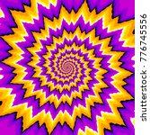 Purple And Yellow Spirals....