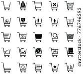 shopping car icon set   Shutterstock .eps vector #776746393