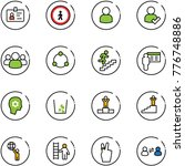 line vector icon set   identity ... | Shutterstock .eps vector #776748886