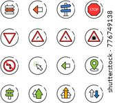 line vector icon set   sign... | Shutterstock .eps vector #776749138