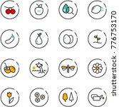 line vector icon set  ... | Shutterstock .eps vector #776753170