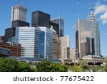 High Rise Buildings at Downtown Toronto - stock photo