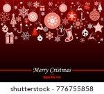 decorative winter card ... | Shutterstock .eps vector #776755858