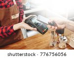 contactless payment by phone. | Shutterstock . vector #776756056