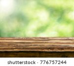 empty wooden table background | Shutterstock . vector #776757244