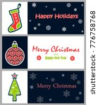 set of decorative winter cards  ... | Shutterstock .eps vector #776758768