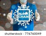 blockchain medicine information ... | Shutterstock . vector #776760049