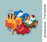 education steps until graduation | Shutterstock .eps vector #776760340