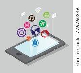 modern application in modern... | Shutterstock .eps vector #776760346