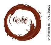 chocolate flowing in a circle.... | Shutterstock . vector #776760823