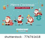 vintage christmas poster design ...   Shutterstock .eps vector #776761618