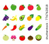fruit vegetable food healthy... | Shutterstock .eps vector #776762818