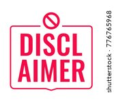 disclaimer. flat vector red... | Shutterstock .eps vector #776765968
