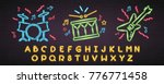 music instruments with alphabet ... | Shutterstock .eps vector #776771458