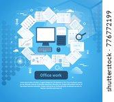 office work paperwork template... | Shutterstock .eps vector #776772199