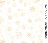 gold snowflakes background | Shutterstock .eps vector #776772298