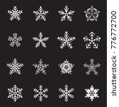 snow flake icon set | Shutterstock .eps vector #776772700