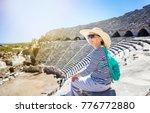 mature beautiful woman traveler ... | Shutterstock . vector #776772880
