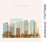 fortaleza skyline detailed... | Shutterstock .eps vector #776774680
