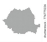 pixel map of romania. vector...