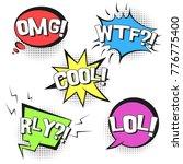 bright contrast retro comic...   Shutterstock .eps vector #776775400